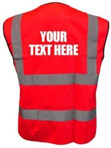 Brook Hi Vis UK red  safety vests