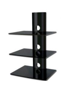 Intecbrackets tv wall mount  glass shelves