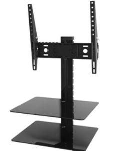 King tv wall mount  glass shelves