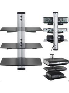 Splinktech tv wall mount  glass shelves