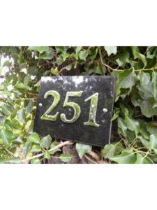 Atlantic Hardware chrome  house number plaques