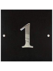 Numbers & Names chrome  house number plaques