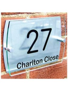 cncmachining2008 chrome  house number plaques