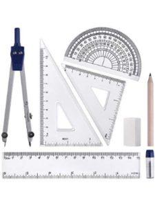 WXJ13 compass protractor  set squares