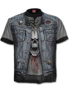 Spiral denim jacket  heavy metals