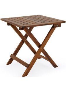 Deuba garden table  square wooden foldings