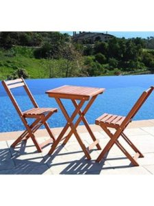 Leisure Zone garden table  square wooden foldings