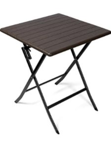Vanage garden table  square wooden foldings