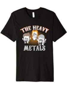 Zerobubble Funny Pun Tees heavy metal chemistry