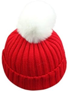 Red Doingshop Beanie Winter Hats for Women Warm Stretch Cable Knit Beanie,High Bun Ponytail Beanie Hat