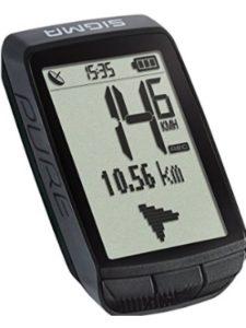 Sigma Sport log  gps speeds