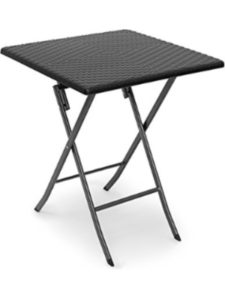 Relaxdays patio table  folding squares