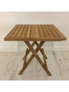 Rustic House patio table  folding squares