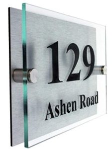Acrylic Master    personalised house number plaques