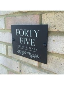 UK Sign Shop    personalised house number plaques