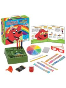 Clifford The Big Red Dog rainbow  science experiments