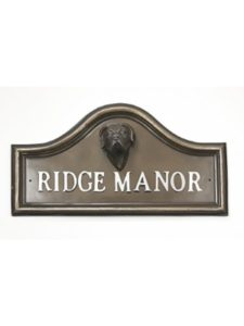 Black Country Metal Works victorian  house number plaques