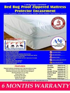 Aaf Textiles zip mattress cover  bed bugs